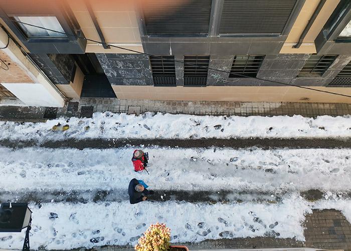 Deja de ser obligatorio el uso de cadenas en Guadalajara, salvo en las calles en las que sean necesarias por  la presencia de nieve y hielo