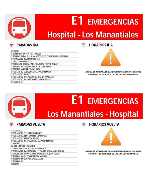 El Ayuntamiento de Guadalajara suspende el servicio público de autobús y habilitará dos únicas líneas de emergencia con el Hospital y RENFE como cabeceras, cuando la calzada lo permita