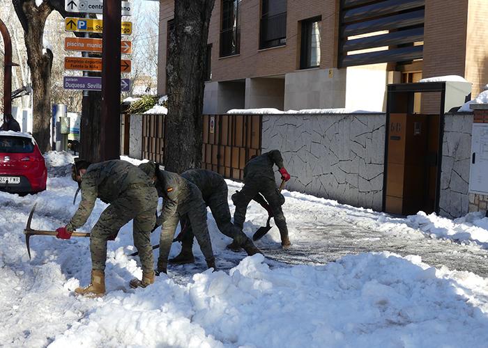 El dispositivo del Ejército para paliar los efectos del temporal se amplía en Guadalajara