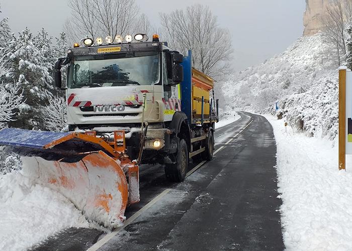 El Gobierno regional ha actuado sobre 839 kilómetros de carreteras regionales en Guadalajara afectadas por la nieve desde el 30 de diciembre