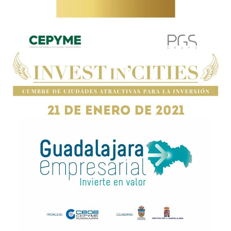 Guadalajara capital y provincia participarán en la cumbre de 'Invest in Cities' como destinos más atractivos para la inversión