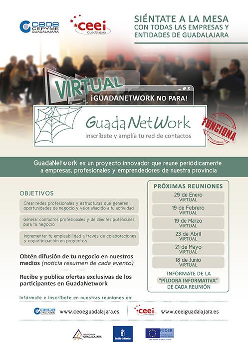 Guadanetwork prepara seis nuevos encuentros virtuales para el primer semestre de 2021