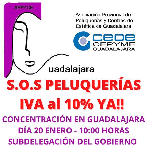 La Asociación de Peluquerías y Centros de Estética de Guadalajara se concentrará este miércoles para solicitar la bajada del IVA en el sector