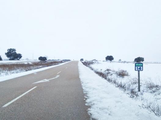 La provincia más afectada por el hielo en las carreteras vuelve a ser Cuenca con 1.566 kilómetros fectados seguido de Guadalajara con 1.492