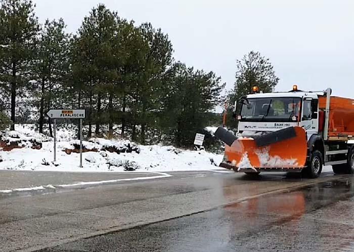 Las quitanieves de la Diputación de Guadalajara han actuado ya sobre 2.500 kilómetros de carreteras