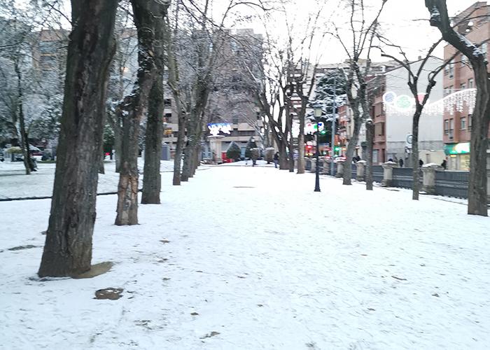 Parque de la Concordia nevado