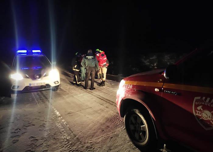Rescatadas seis personas en Corralejo y Peñalba de la Sierra a causa de la nieve y el hielo