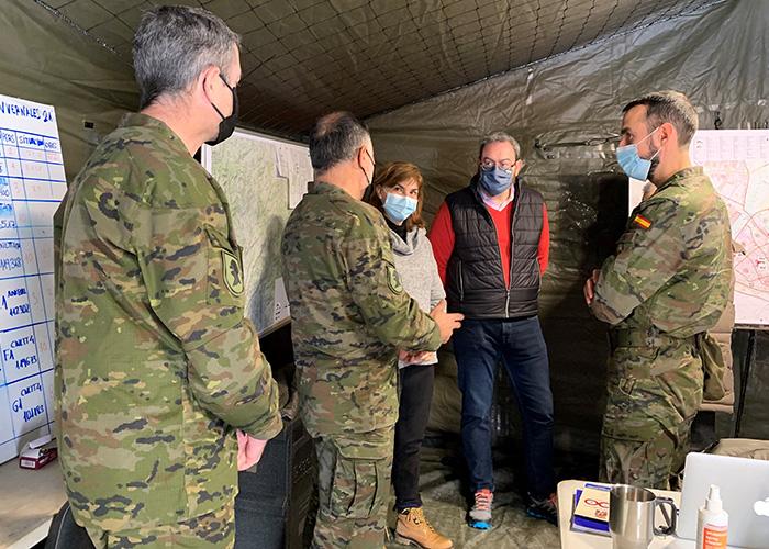 Robles agradece a efectivos de Geacam y de la unidad militar del Ejército de Tierra su apoyo en las labores de limpieza en Guadalajara