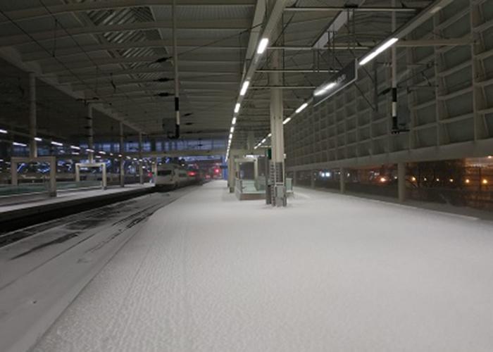 Suspendido todo el tráfico ferroviario en el contorno de Madrid para todo tipo de circulaciones a causa del temporal 'Filomena'