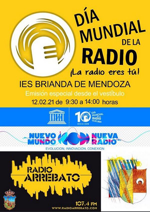 El Brianda de Mendoza celebrará el Día Mundial de la Radio el viernes 12 en directo por Radio Arrebato