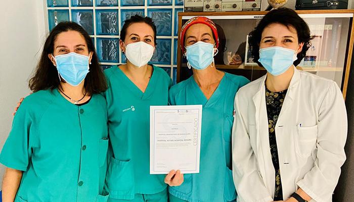 El Hospital de Guadalajara vuelve a revalidar la acreditación como 'Hospital activo hospital seguro' que concede SENSAR