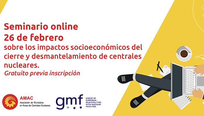 Un seminario online tratará sobre los impactos socioeconómicos del cierre y desmantelamiento de centrales nucleares
