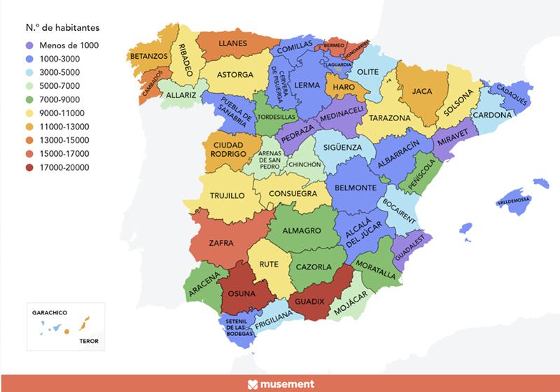 ¿Son Belmonte y Sigüenza los pueblos más populares de Cuenca y Guadalajara