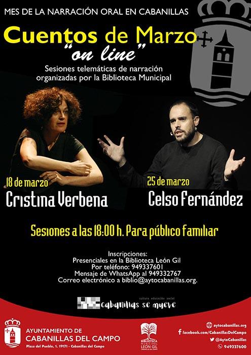 Cabanillas organiza cuentacuentos por videoconferencia para celebrar el Día de la Narración Oral