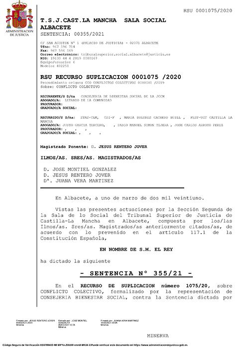 El TSJCM da la razón a CCOO las 45 auxiliares de enfermería de la Residencia de Mayores Los Olmos de Guadalajara deben cobrar Peligrosidad