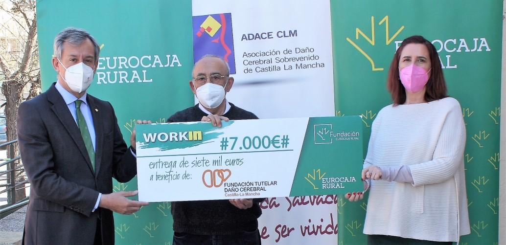FUNDACE CLM formará y ayudará a buscar trabajo a 20 personas con Daño Cerebral Sobrevenido con el premio WORKIN de la Fundación Eurocaja Rural
