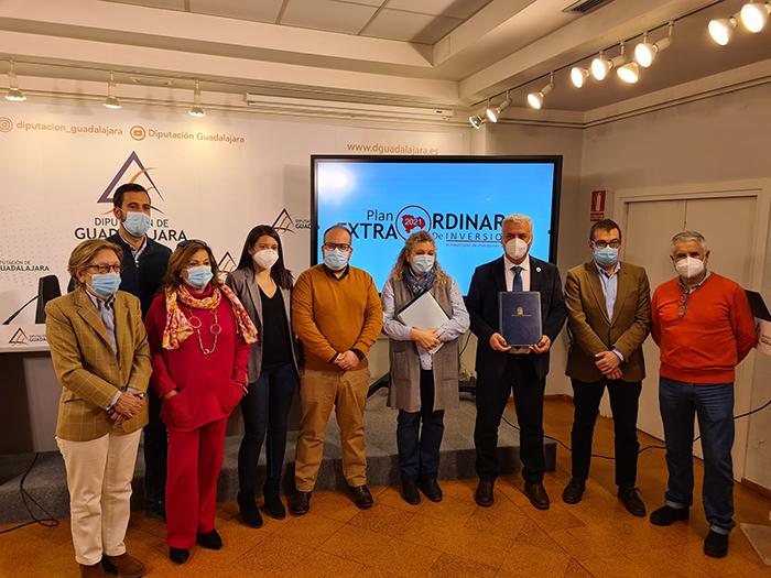La Diputación de Guadalajara ejecutará en 2021 un Plan Extraordinario de Inversiones de 24,5 millones de euros