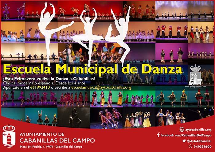 La Escuela Municipal de Danza de Cabanillas retomará su actividad tras las vacaciones de Semana Santa
