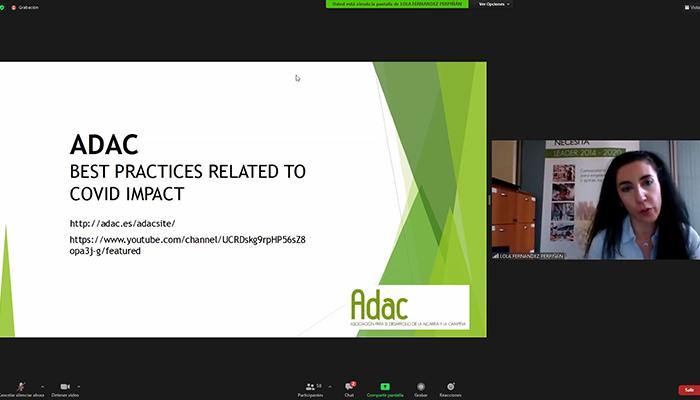 ADAC muestra en un seminario internacional las acciones de apoyo a emprendedores puestas en marcha ante la crisis del covid-19