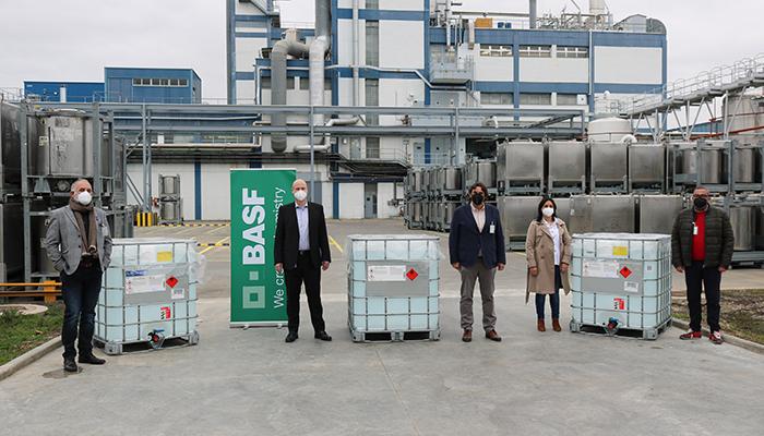 DESTINA transporta de manera gratuita la donación de 2.4 toneladas de hidrogel por parte de BASF a instituciones castellano-manchegas