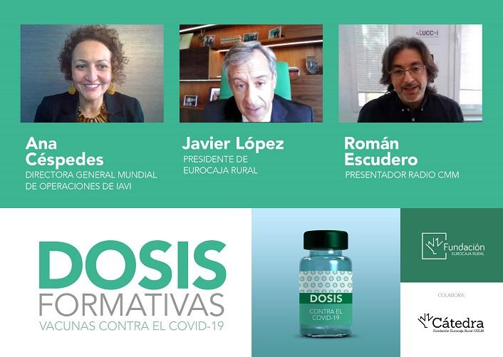 Ana Céspedes en las 'Dosis Formativas' de Fundación Eurocaja Rural La obtención de 4 vacunas en un año constituye un éxito científico sin precedentes