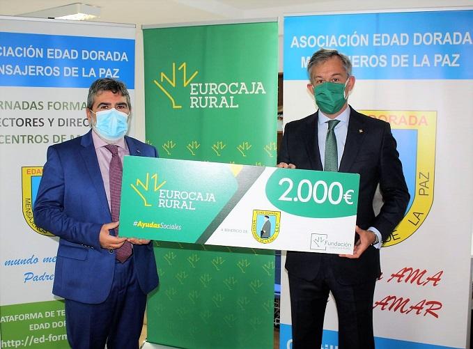 Edad Dorada Mensajeros de la Paz invertirá la 'Ayuda Social' de Fundación Eurocaja Rural en Equipos de Protección Individual para sus residencias