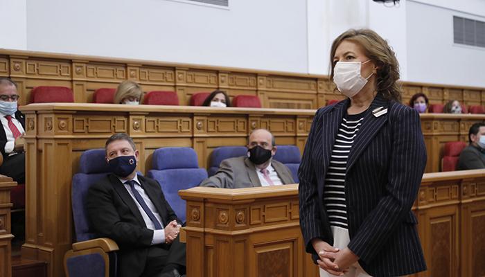 El pleno de las Cortes regionales aprueba la designación de Aurelia Sánchez como senadora en representación de CLM