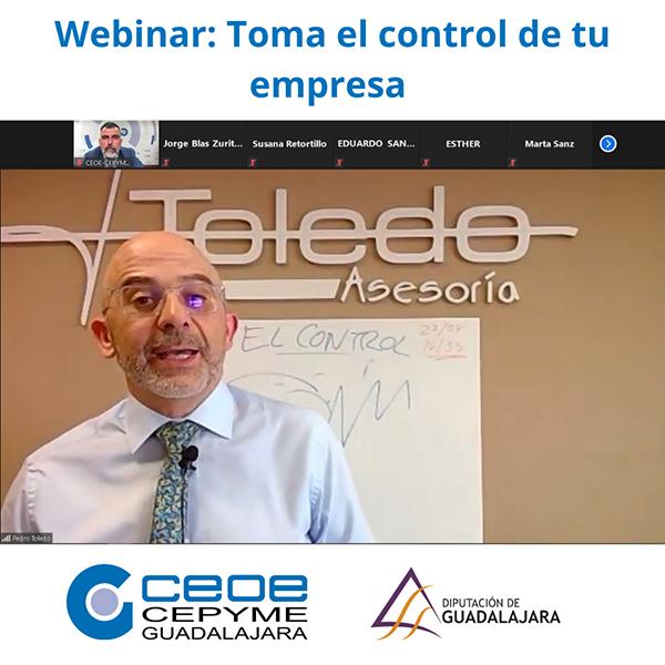 Éxito del nuevo webinar de CEOE-Cepyme Guadalajara basado en como tomar el control de tu empresa