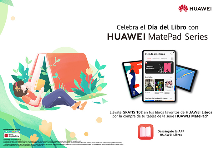 Huawei se vuelca en el Día del Libro gracias a sus soluciones tecnológicas y con promociones para los usuarios de Huawei Libros