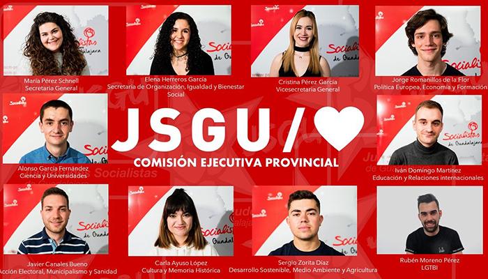Juventudes Socialistas de Guadalajara renueva su ejecutiva provincial casi por completo