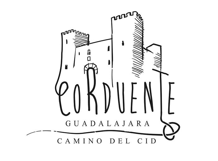 La silueta del castillo de Santiuste, en Corduente, ilustra el nuevo sello del Camino del Cid