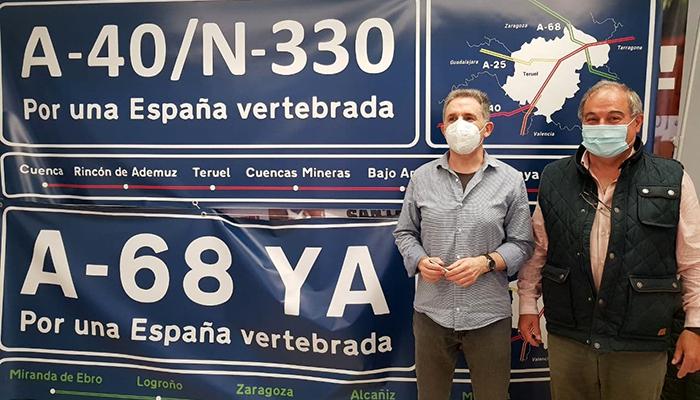 Teruel Existe invita a Cuenca y Guadalajara a que llenen sus pueblos de pancartas para reivindicar las autovías prometidas