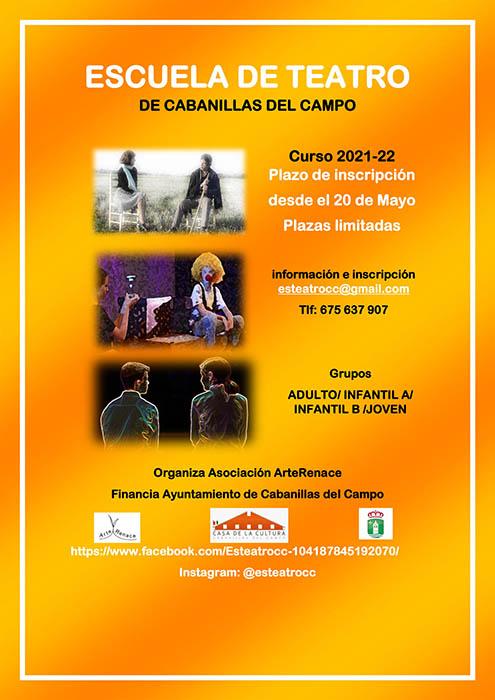 Abre la inscripción para el curso 21-22 en las Escuelas de Teatro, Fotografía y Arte de la Asociación «ArteRenace» de Cabanillas