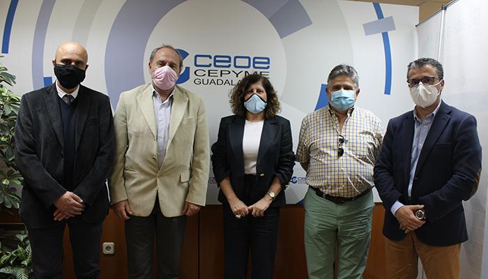 CEOE-Cepyme Guadalajara y el Colegio Oficial de Ingenieros Técnicos de Telecomunicaciones de Castilla-La Mancha mantienen su primer encuentro