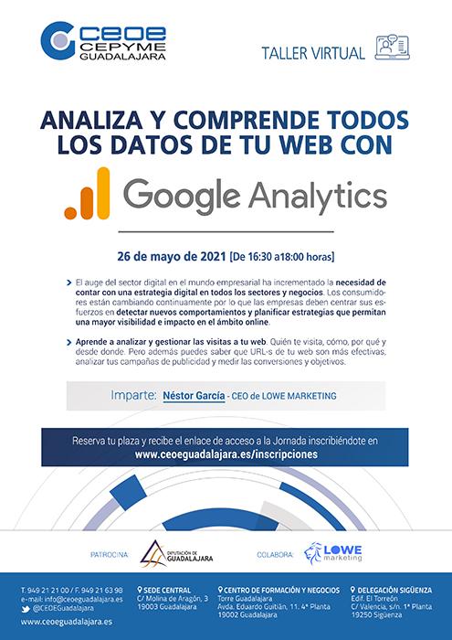 Google Analytics centrará un nuevo webinar de CEOE-Cepyme Guadalajara