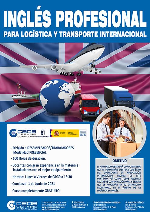 Inglés profesional para logística y transporte internacional, un nuevo curso del departamento de formación de CEOE-Cepyme Guadalajara