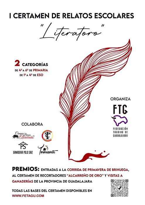 La Federación Taurina de Guadalajara lanza el I Certamen de Relatos Escolares Literatoro