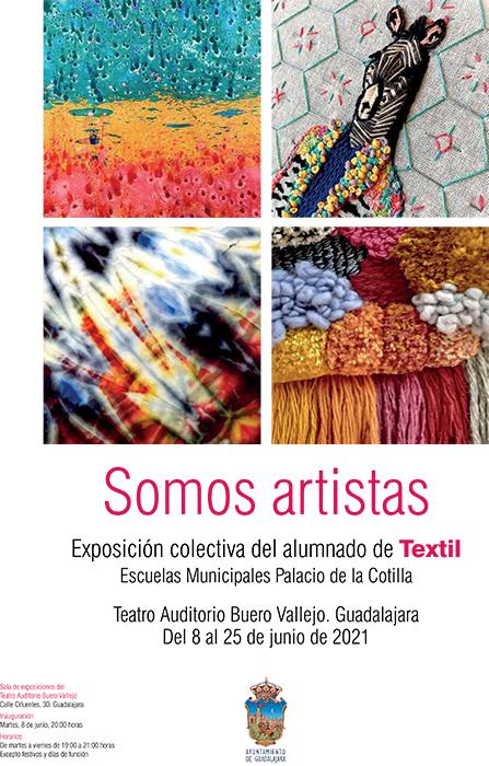 El alumnado del taller de textil de las Escuelas Municipales de La Cotilla expone sus obras desde mañana en el Buero Vallejo