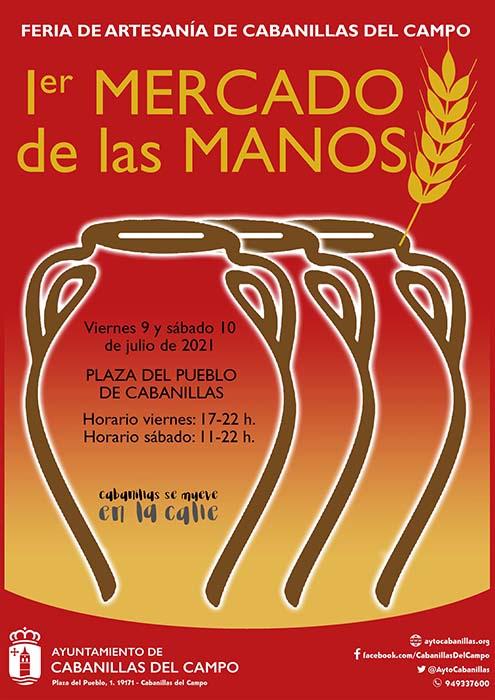 La artesanía provincial se mostrará en el «I Mercado de las Manos de Cabanillas», los días 9 y 10 de julio