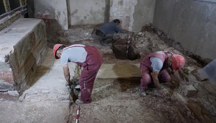 Avanzan los trabajos de restauración de la capilla de San Andrés de Rueda de la Sierra
