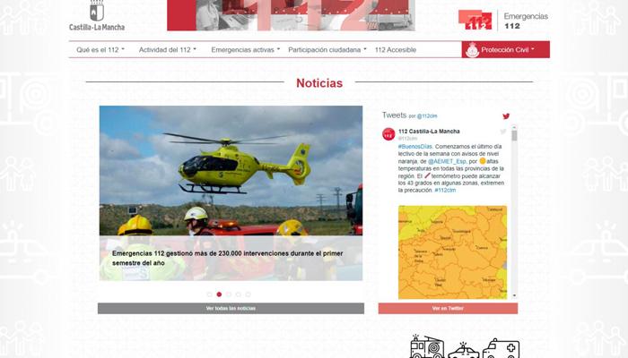 El nuevo portal del 1-1-2 de Castilla-La Mancha recibe cerca de 28.000 visitas en casi un año de funcionamiento