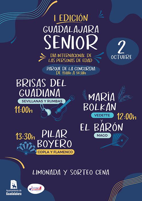Bienestar Social organiza este sábado 'Guadalajara Senior', una jornada festiva para personas de edad con diferentes espectáculos