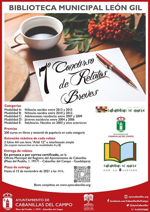 Convocado el VII Concurso de Relatos Breves de la Biblioteca Municipal León Gil