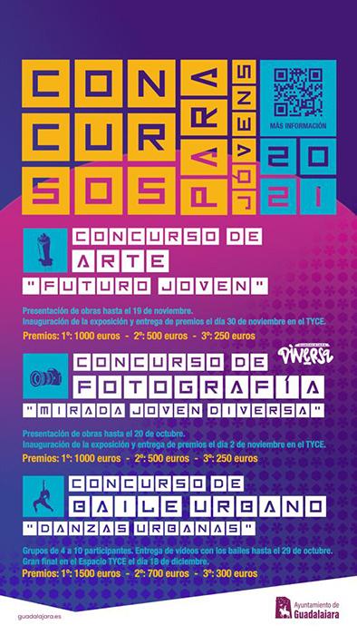 El Ayuntamiento de Guadalajara convoca tres nuevos concursos de arte urbano, fotografía y competición de baile para jóvenes