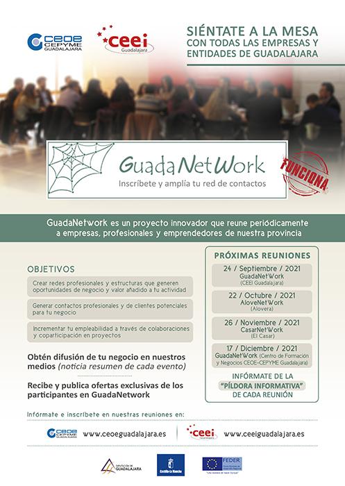 Guadanetwork programa cuatro nuevos encuentros para el último cuatrimestre de 2021, con el objetivo de seguir acercando empresas