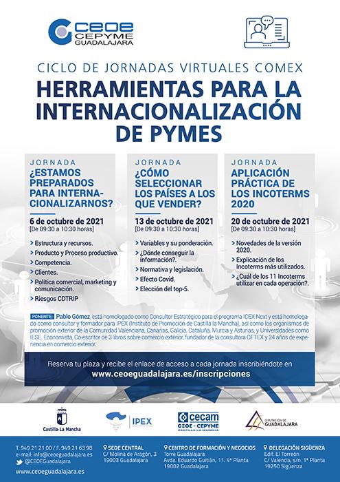 Nuevo ciclo de talleres de internacionalización organizados por CEOE-Cepyme Guadalajara