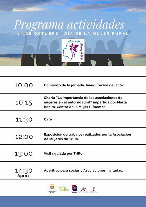 Asociaciones de la comarca de la Alcarria se reunirán en Trillo para conmemorar el Día de la Mujer Rural el próximo 15 de octubre