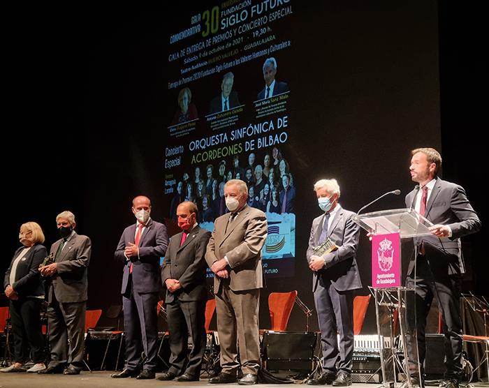El Gobierno regional muestra su apoyo al mundo de la cultura de la región en la Gala del 30 aniversario de la Fundación Siglo Futuro