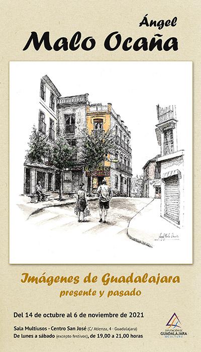 Exposición de dibujos de Guadalajara de Ángel Malo Ocaña en la Multiusos de la Diputación