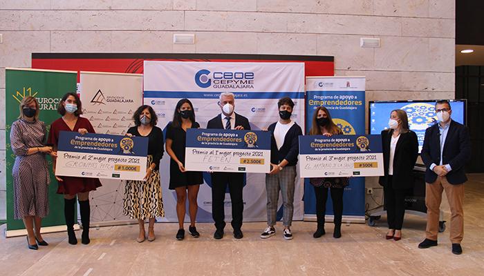 Fetén gana la cuarta edición del Programa de Apoyo a Emprendedores de Guadalajara de CEOE-Cepyme Guadalajara y la Diputación provincial
